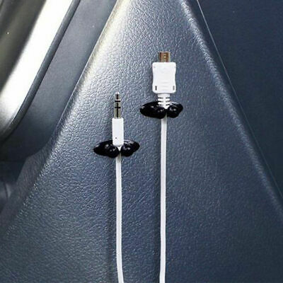8Pcs Car USB Cable Cord/Charger Line/Headphone Car Clip Interior Accessories