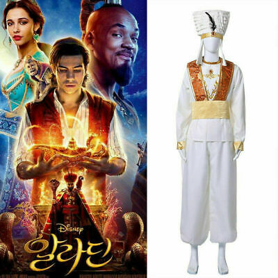 Aladdin Lamp Prince Aladdin cosplay Costume Suit Uniform Halloween Cosplay