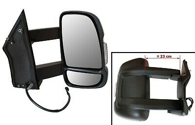Right Exterior Mirror Long Arm Version Manual Motorhome for Peugeot Boxer II 06