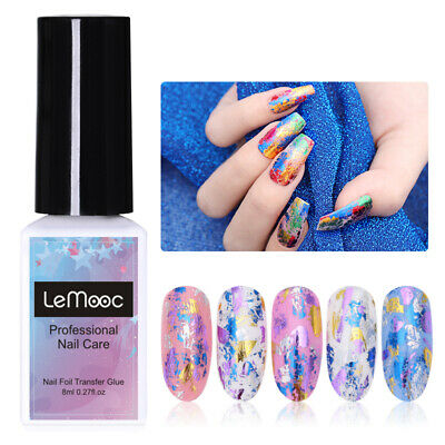 LEMOOC 8ml Nail Foil Transfer Glue Nail Decoration Tools No Need Curing UV Lamp