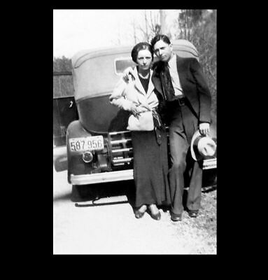 1933 Bonnie & Clyde PHOTO Gangster Bonnie Parker Clyde Barrow Car