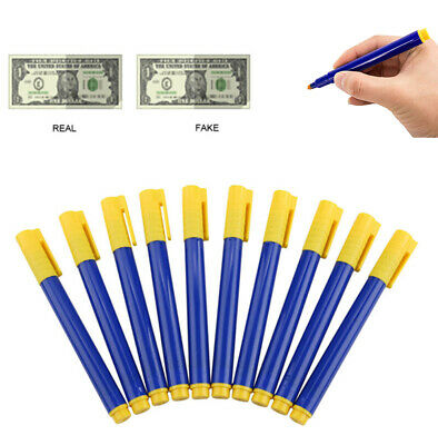10X Money Tester Pens Counterfeit Forged Fake Detector Marker Bank Note Checker