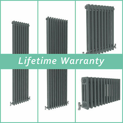 Traditional Column Radiator Vertical Horizontal Rads Cast Iron Style Anthracite