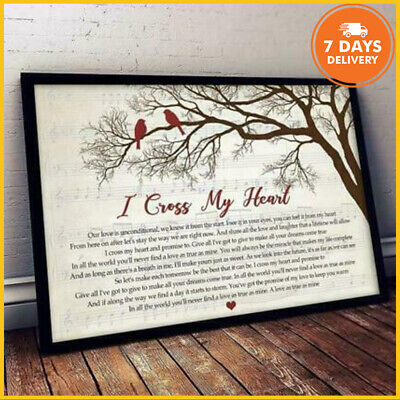 Cardinal Bird Poster I Cross My Heart Paper Portrait Poster No Frame From US
