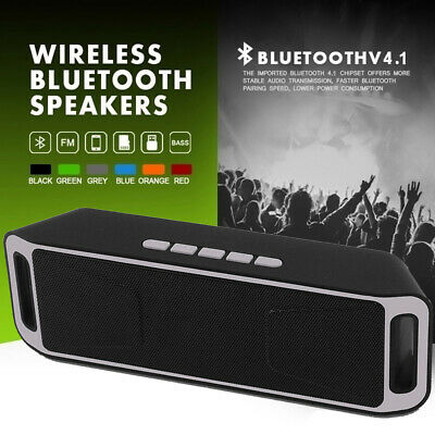 Subwoofer Support TF USB Bluetooth Speaker Radio Dual Loudspeaker Sound Box