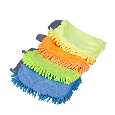 Car Wash Washing Microfiber Chenille Mitt Auto Cleaning Glove Dust Washer Tool