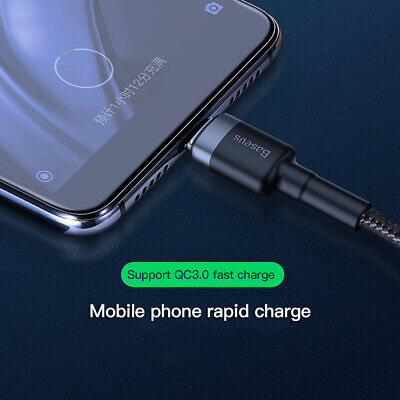 Baseus USB C Type C Cable 5A Quick Charge For Huawei P30 P20 Pro Samsung S10 S9