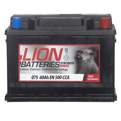 075 Car Battery 3 Years Warranty 60Ah 500cca 12V Electrical - Lion MF55457