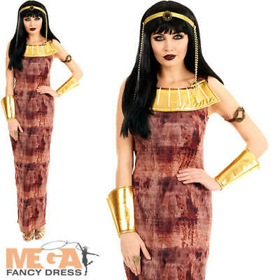 Egyptian Queen Ladies Fancy Dress Cleopatra Ancient Egypt Goddess Adults Costume