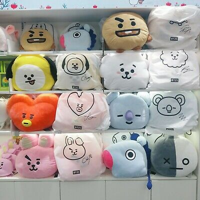Official Bt21 Bts Cushion Mang Chimmy Tata Cooky Rj Shooky Koya  Pillow Kpop