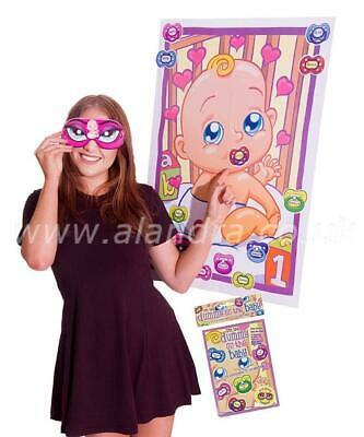 Dummy On The Baby Game - Mum to Be Baby Shower Pin Dummy Party Game - DUMBABY