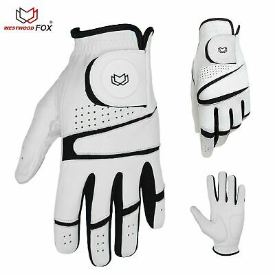 WFX Mens All Weather Soft Golf Gloves Leather Palm UA CoolSwitch