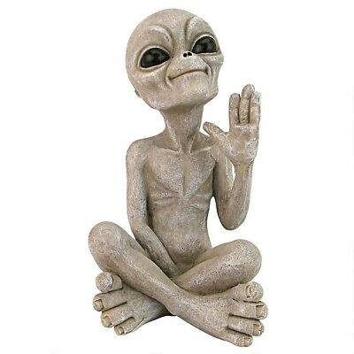 UFO Extra Terrestrial Roswell Alien Other Worldly Statue Gray Sculpture