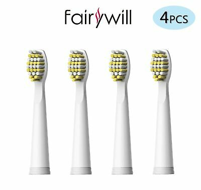 M-Shaped Electric Toothbrush Heads 4 x Replaced for Fairywill FW-917/508/507/959
