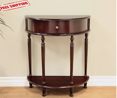 Entryway Half Moon Console Tables Accent Living Room Furniture