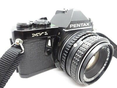 【For Parts】Pentax MV-1 35mm SLR Film Camera w/ SMC PENTAX-M 50mm f/2 JAPAN #004