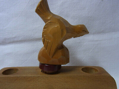 Nice Vintage German Wood Carved Bottle Spout Wood Grouse #CI.90