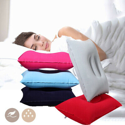 Inflatable Sleeping Pillow Travel Air Plane Cushion Camping Outdoor Sleep Rest