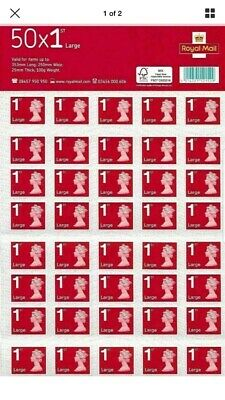 Royal Mail First Class Large Letter size 1st Class Stamp Sheet (50x4) 200 Stamps