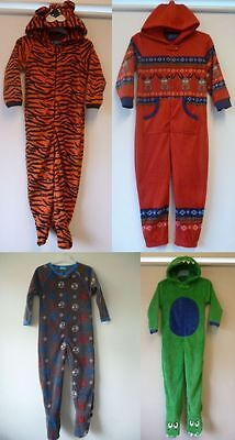 Primark Fleece Boy Kid Child All In One Sleep Suit Romper Hooded Footed Pyjamas