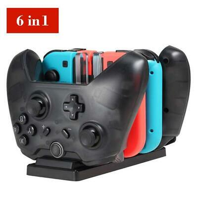 6in1 Type-C USB Dock Charger Station For Nintendo Switch Joy-Cons Pro Controller