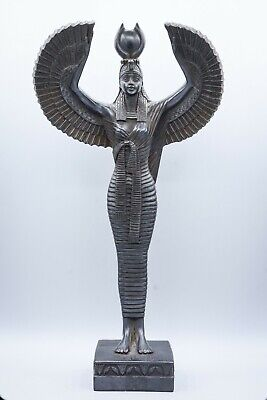 Unique Egyptian Goddess Isis Open Wings large stone made in egypt