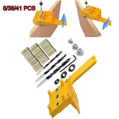 Handheld Woodwork Doweling Jig Drill Locator Guide Wood Dowel Drilling Hole Saw