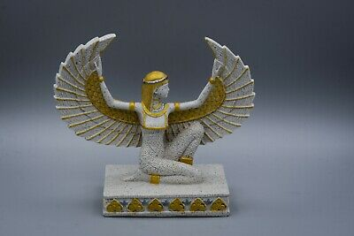 Isis Wings Egyptian Goddess l sandstone Statue made in egypt