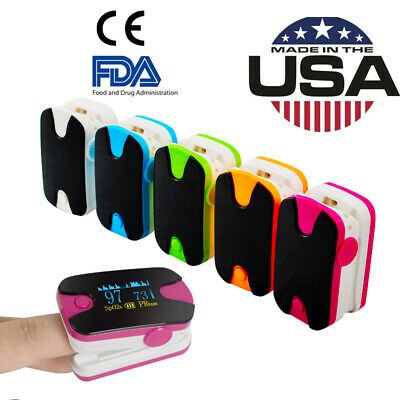 CE Fingertip Pulse Oximeter OLED Blood Oxygen Heart SPO2 Meter Finger Clip USA