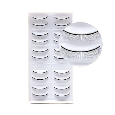 10 Pairs Training Lashes Eyelash Extensions Self-adhesive Practice Lashes Strip