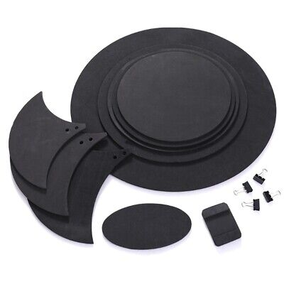 10pcs Bass Snare Drum Sound Off Mute Silencer Drumming Rubber Practice Pads Set