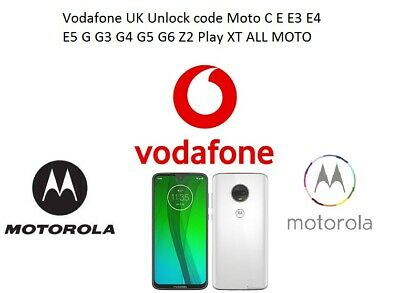 Vodafone UK Unlock code Moto G G3 G4 G5 G6 Z2 Play XT ALL MOTO Fast service