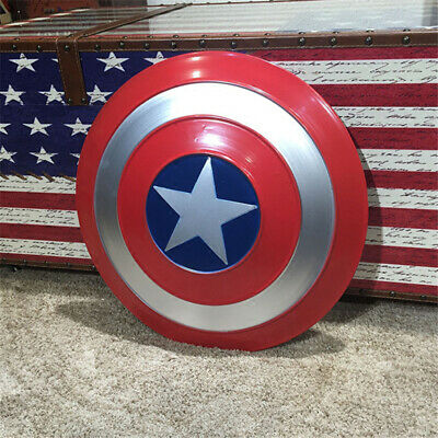 Avengers Captain America Shield Iron Replica Vintage Cosplay Prop Bar Decoration