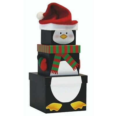 New Penguin 3 Piece Plush Birthday Party / Christmas Gift Box Sets