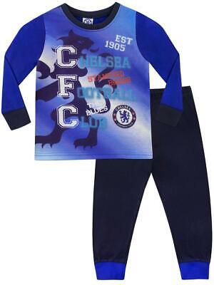 Boys Girls Kids Chelsea Football Club Pyjamas Pj's Age 3-10 Years New