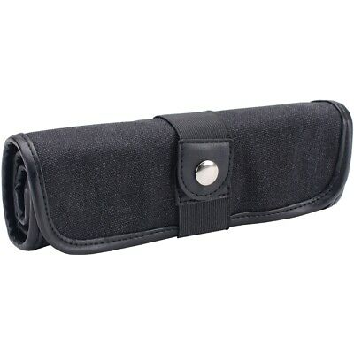 Canvas Pencil Roll Ups Holds 36-black