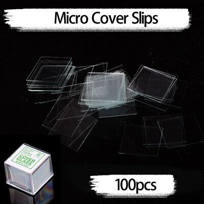 100Pcs Glass Micro Cover Slips Glass Blank Lab Coverslip Microscope Slide Cover