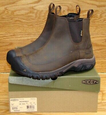 1661ce3af35 KEEN ANCHORAGE III Insulted Waterproof Boots Leather Dark Earth ...