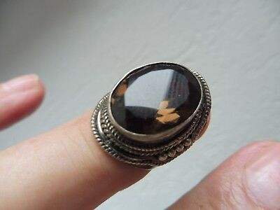 Beautiful, Old Ring __925 Silver __ with Beautiful, Polished Stone __