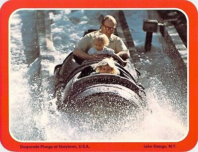 postcard 5.25x6.75 Amusement Park STORYTOWN USA ~PLUNGE~Lake George, NY