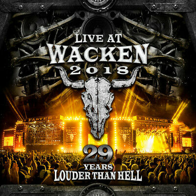Live At Wacken 2018: 29 Years Louder Than Hell - 4 D (REGION 1 DVD New) Dummypid