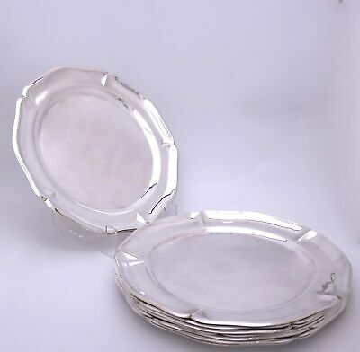 """Sanborns Sterling Silver Dinner Plates Chargers 11 3/4""""w Set of 8"""