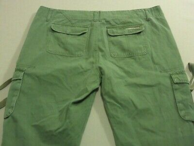 079 Womens Ex-Cond Volcom Scout Relaxed Tapered Leg Cargo Pants Sze 14 $100 Rrp.