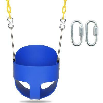 Heavy-Duty High Back Full Bucket Toddler Swing Seat with Chains Fully Assembled