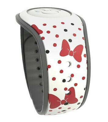 Disney Parks Minnie Mouse Bows & Polka Dots White Magic Band 2 MagicBand NIP
