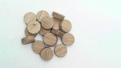 Solid Oak Tapered 16 Mm Plug  Bag 25 Plugs Skirting Doors Floor Boards Etc