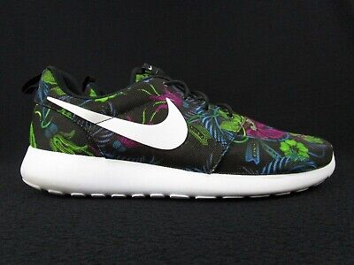 NIKE ROSHE RUN Floral Print Fuchsia Flash Men's Sneaker Shoe Sz 12 (655206 510)
