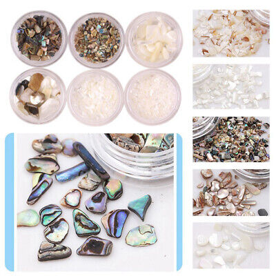 3D Nail Art DIY Manicure Decor Shell Flakes Irregular Abalone Slices Sequins Acc