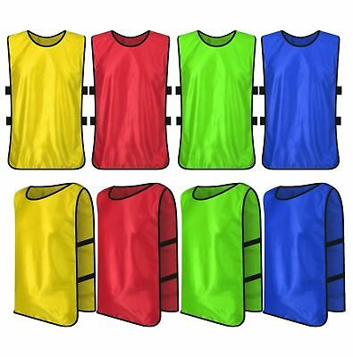 FOOTBALL MESH TRAINING cricket hockey SPORTS BIBS Kids/Youth and Adult Sizes