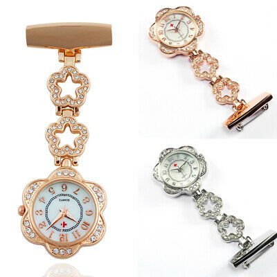 Stainless Steel Nurse Watch Brooch Tunic Quartz Fob Watches Clip Doctor Medical